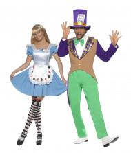 Par kostume gal hattelaver og eventyrpige