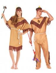 Parkostume indianer til voksne tofarvet
