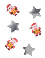 20 store konfetti med julemænd 11 cm