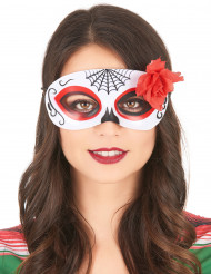 Maske Day of the Dead med rose