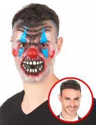 Gennemsigtig maske uhyggelig klovn