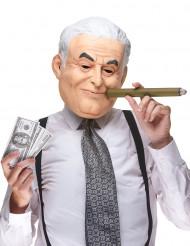 Humoristisk latexmaske Dominique Strauss Kahn