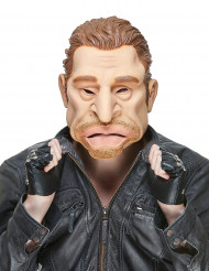 Humoristisk latexmaske Jonny Hallyday til voksne