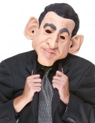 Humoristisk latexmaske Sarkozy til voksne