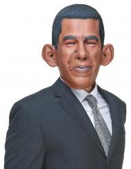 Humoristisk latexmaske Barack Obama til voksne