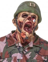 Latexmaske zombiesoldat voksen