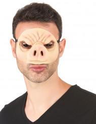 Latexmaske gris voksen