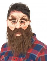 Latexmaske skægget mand