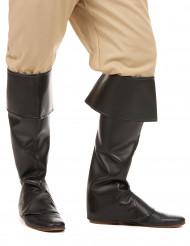 Sorte skoovertræk imiteret læder