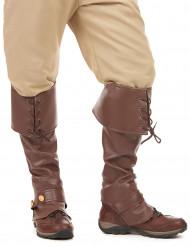 Brune skoovertræk med snøre