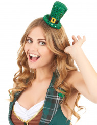 Høj hat i miniformat med pailletter Skt. Patricks dag til voksne