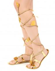 Romerske sandaler med snøre