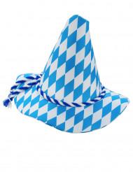Bavarian blåhvid hat voksen