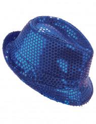 Paillethat blå