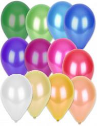 50 metallisk farvede balloner