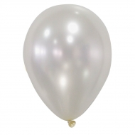 50 elfensbenfarvede metalliske balloner