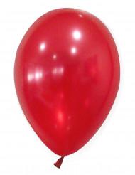 50 røde metallicfarvede balloner