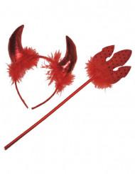 Djævel rødt tilbehør