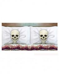 Pudebetræk skelet Halloween 53x81 cm