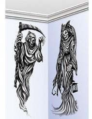 Halloween vægdekorationer med døden
