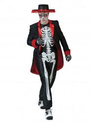 Día de los muertos skelett - Udklædning for voksne