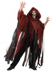 Kappe rød og sort Halloween voksen