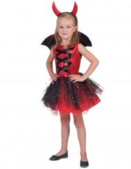 Kostume djævel med tutu og vinger til piger Halloween