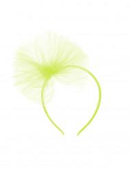 Diadem med neon-grøn tylsløjfe barn