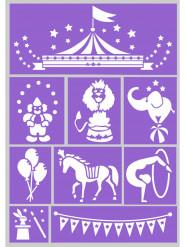 Skabeloner til cirkus sminkning
