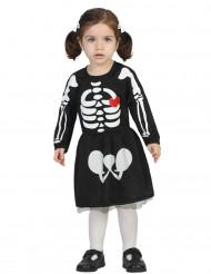 Skræmmende hofnar Halloween kostume til børn sort-rød