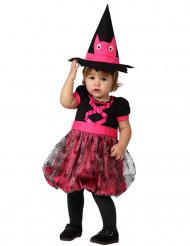 Lyserødt heksekostume halloween baby