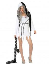 Spøgelseskostume udfordrende kvinde Halloween