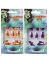 Selvlysende kunstige negle Halloween