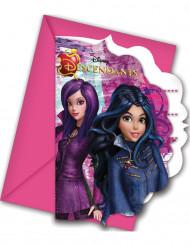 6 Invitationskort  + kuverter descendants™