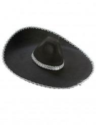 Sombrero med sølvfarvede detaljer