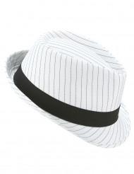 Borsalino sort- og hvidstribet