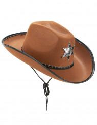 Cowboyhat sherif brun