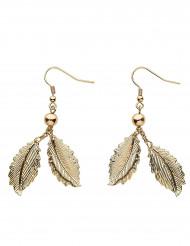 Øreringe med gyldne laurbærblade