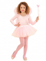 Kit fe-prinsesse lyserød til børn
