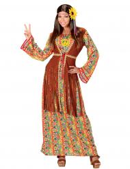 Kostume lang hippiekjole med frynser kvinde