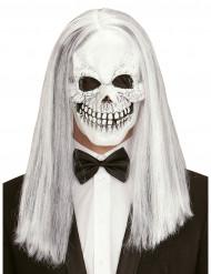 Maske skelet med paryk til voksne