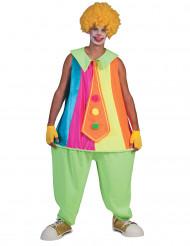 Neon clown udklædning til voksne