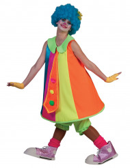 Kostume kjole klovn neon til kvinder