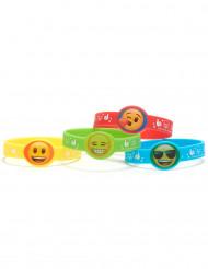 4 armbånd i gummi Emoji™