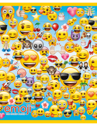 8 gaveposer i plastik Emoji™ 18 x 23 cm
