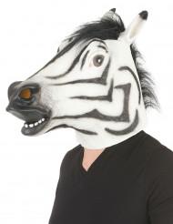 Maske i latex zebra til voksne