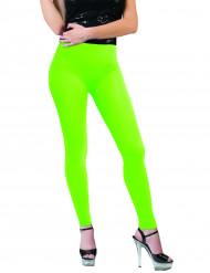 Leggings neongrønne til voksne