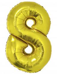 Ballon aluminium kæmpe 8 tal 1 meter