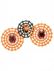 Rosetter edderkopper 3 sk. Halloween