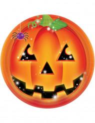 8 tallerkener græskar Halloween 23 cm